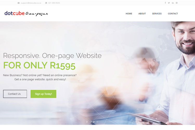 Get your one-page Site today!